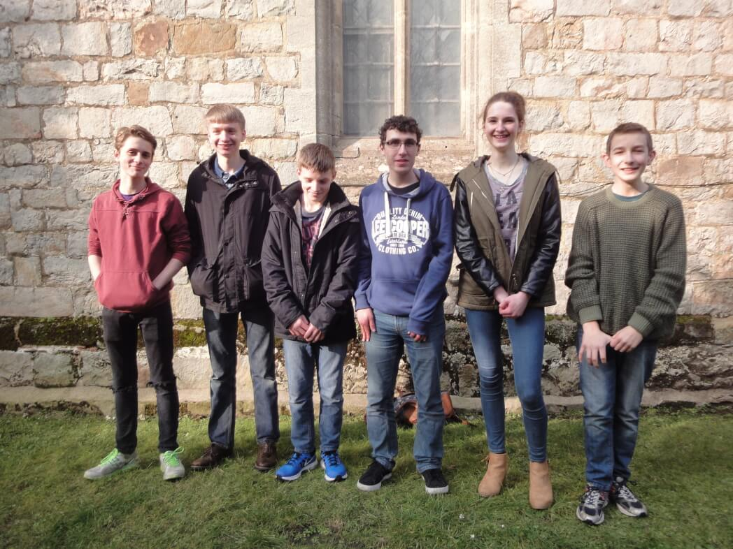 March 2016: first ever Young Ringers band competing in the Guild 6 Bell Striking Competition