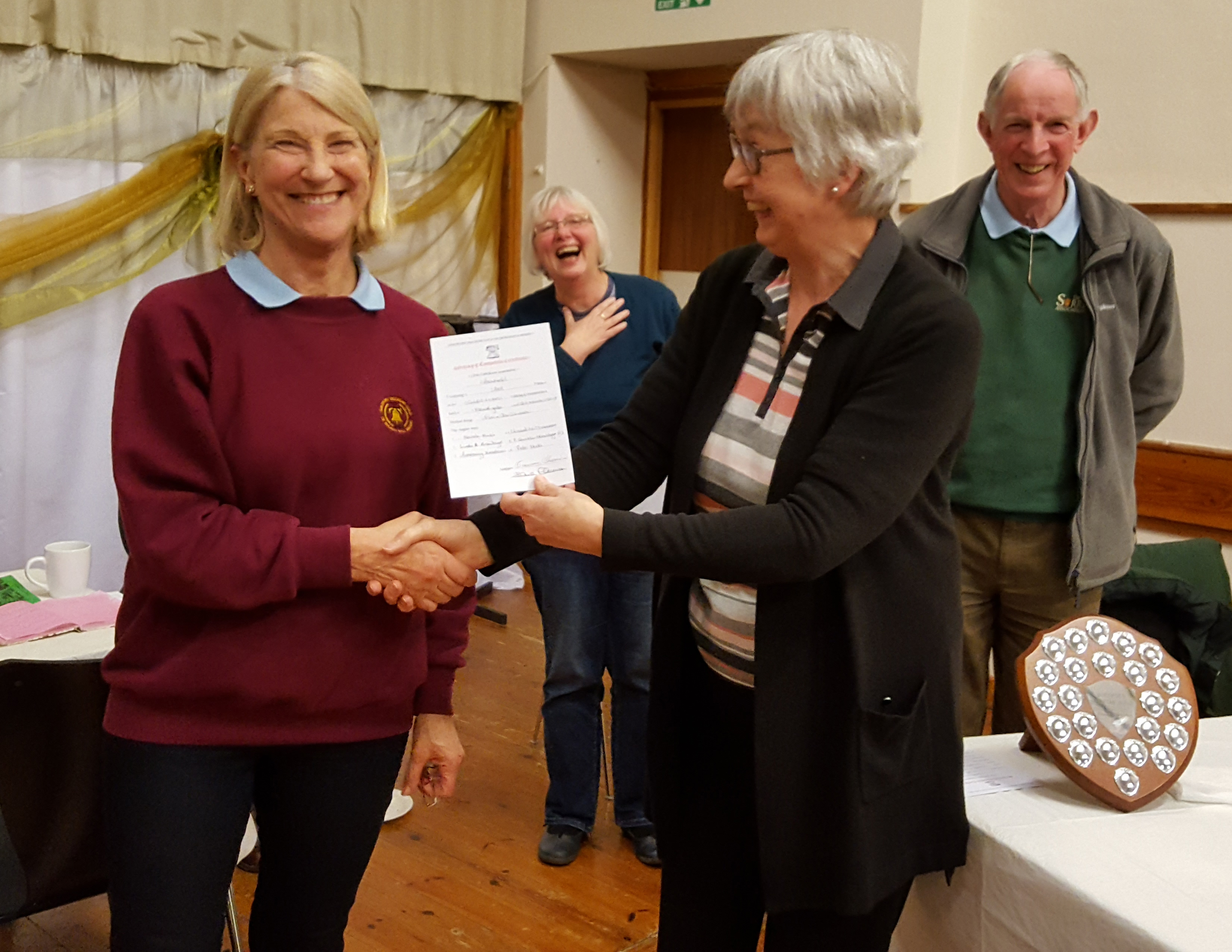 Rosemary Henderson receiving certificate on behalf of Ashtead
